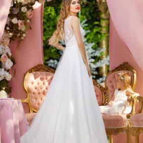 Αέρινο νυφικό με ιδιαίτερο μπούστο 2018 Herm's bridal