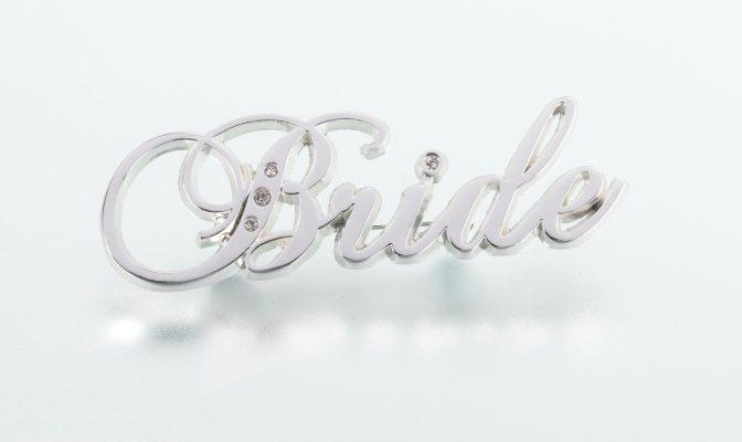 ασημένια καρφίτσα bride